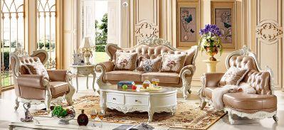 法式-266A沙发1+贵+3/进口实木框架/接触面进口头层真皮/高弹力海棉