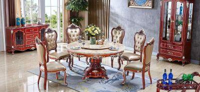 红檀-6317餐台-6322餐椅/进口实木框架/接触面进口头层真皮/高弹力海棉