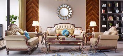 红檀-6001沙发/进口实木框架/接触面进口头层真皮/高弹力海棉