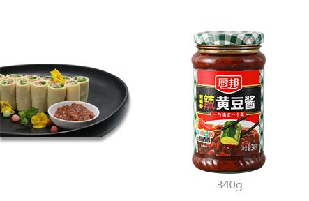 厨邦原晒香辣黄豆酱