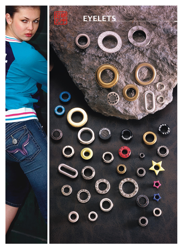 cap-covered eyelets