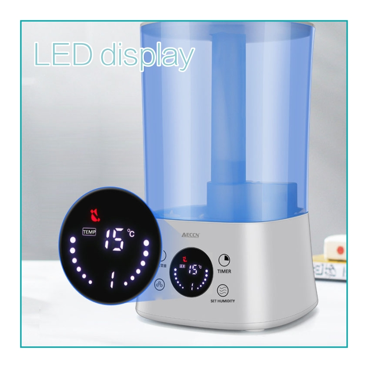 HYB-B11 4L LED display top filling water home use ultrasonic sterilize humidifier