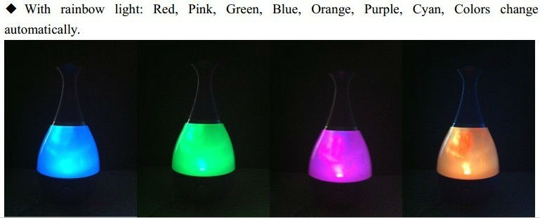 HYB-58 Hot Sale 7 kinds of led night light Ultrasonic Air Humidifier