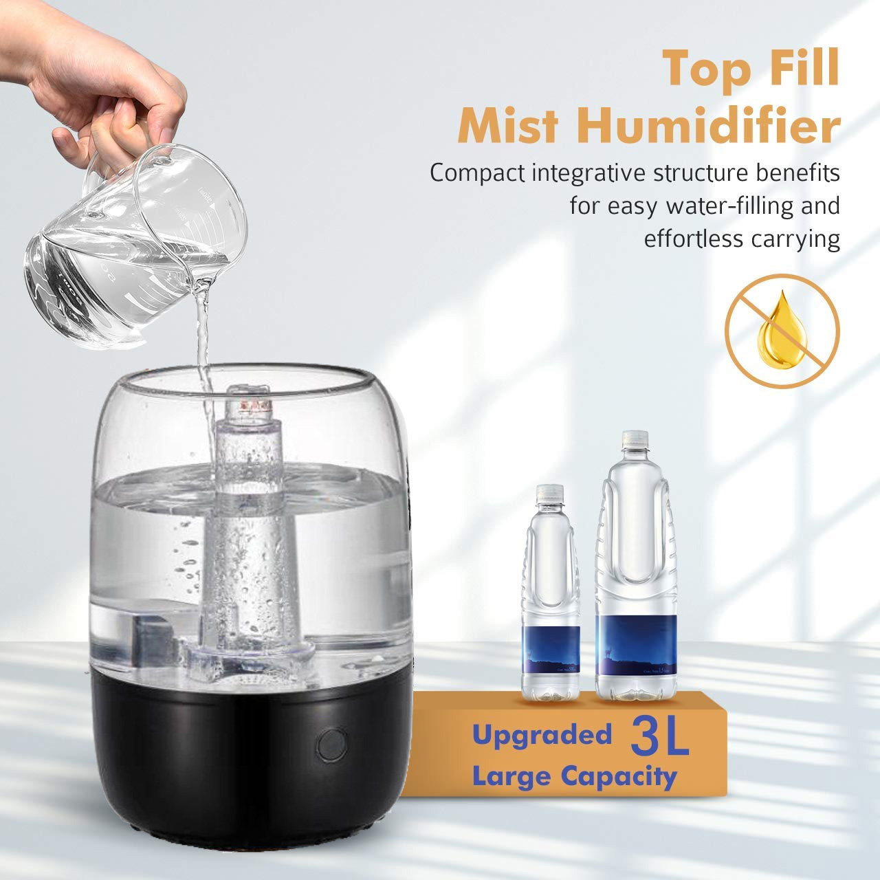 HYB-B14 Top Filling Essential Oil Aroma Diffuser Disinfect Sterilize Humidifier