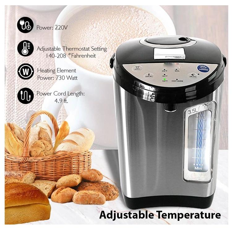 3 ways of water dispensing LED temperature control reboil functional child lock electric air pots