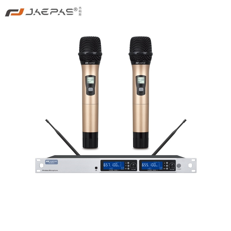 One for two wireless handset microphone SL82-2 square