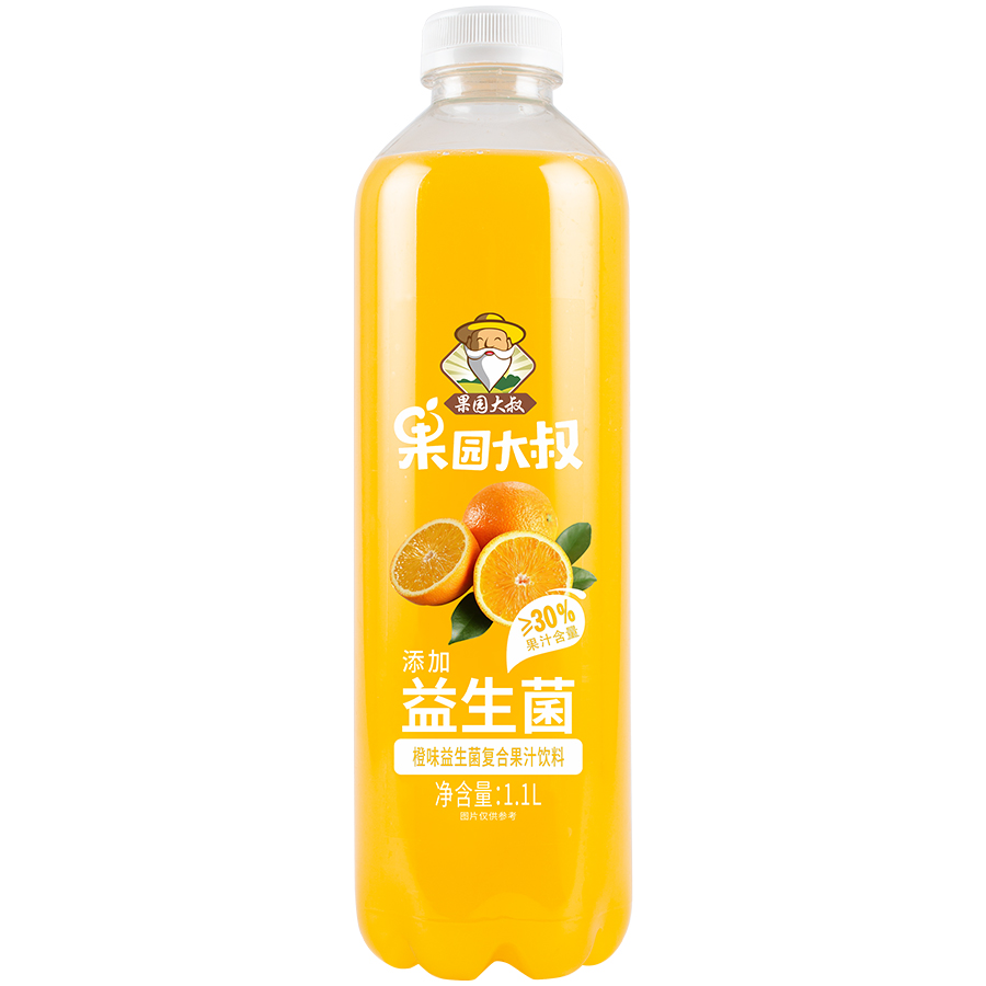 果园大叔橙味益生菌复合果汁饮料