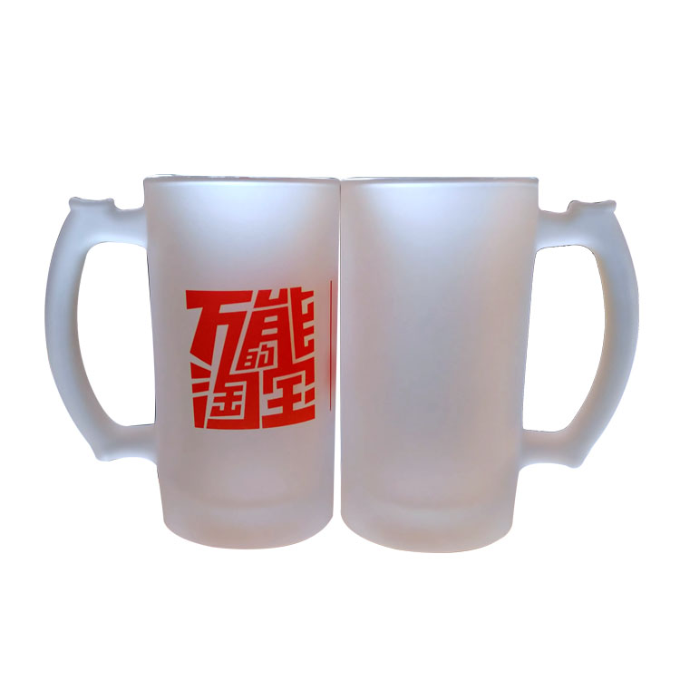Sublimation Frosted Glasss Beer Mug