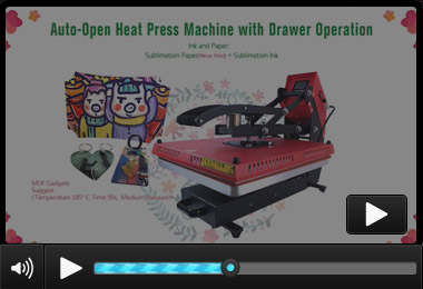 Clamshell Auto-Open Heat Press BY-011B