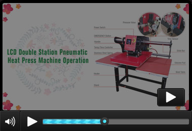 Double Station Pneumatic Automatic Heat Press BY-043