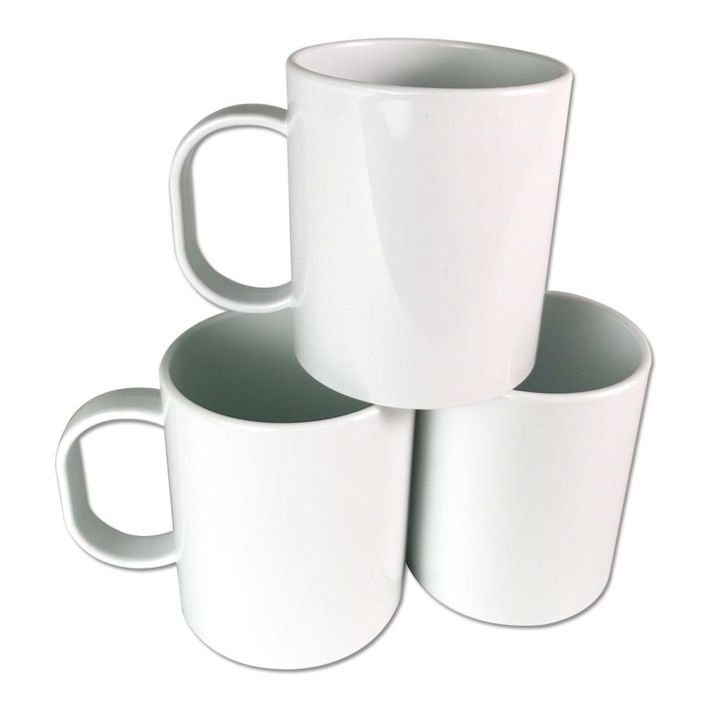 11oz Plastic White Mug