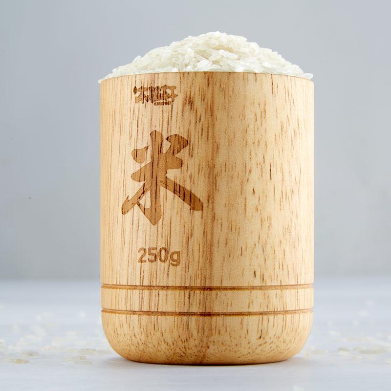 橡胶木米杯(容量约250g)