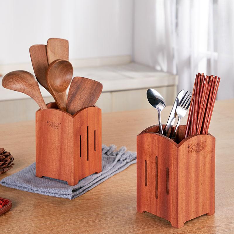 乌檀木餐具筒