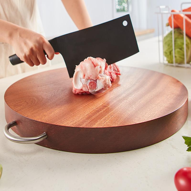 乌檀木圆形整木菜板菜墩子