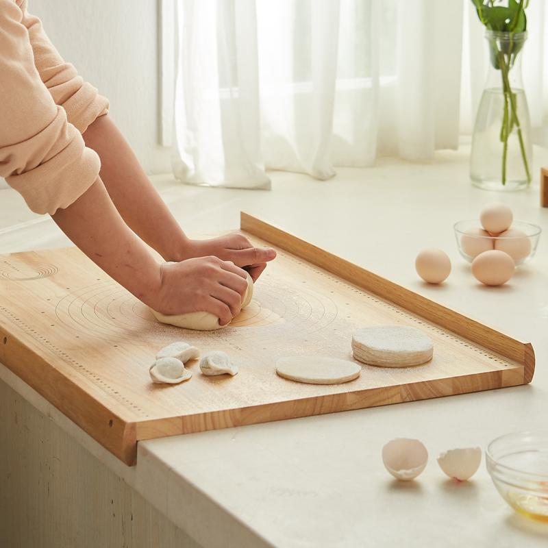 橡胶木带刻度擀面板