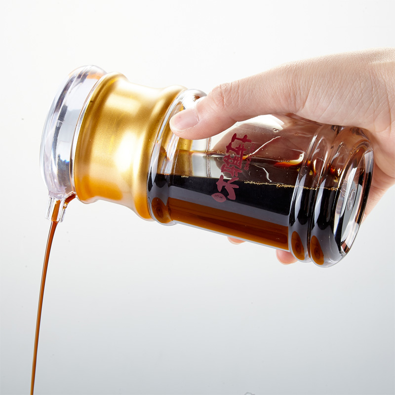 亚克力油瓶两件套橡胶木架