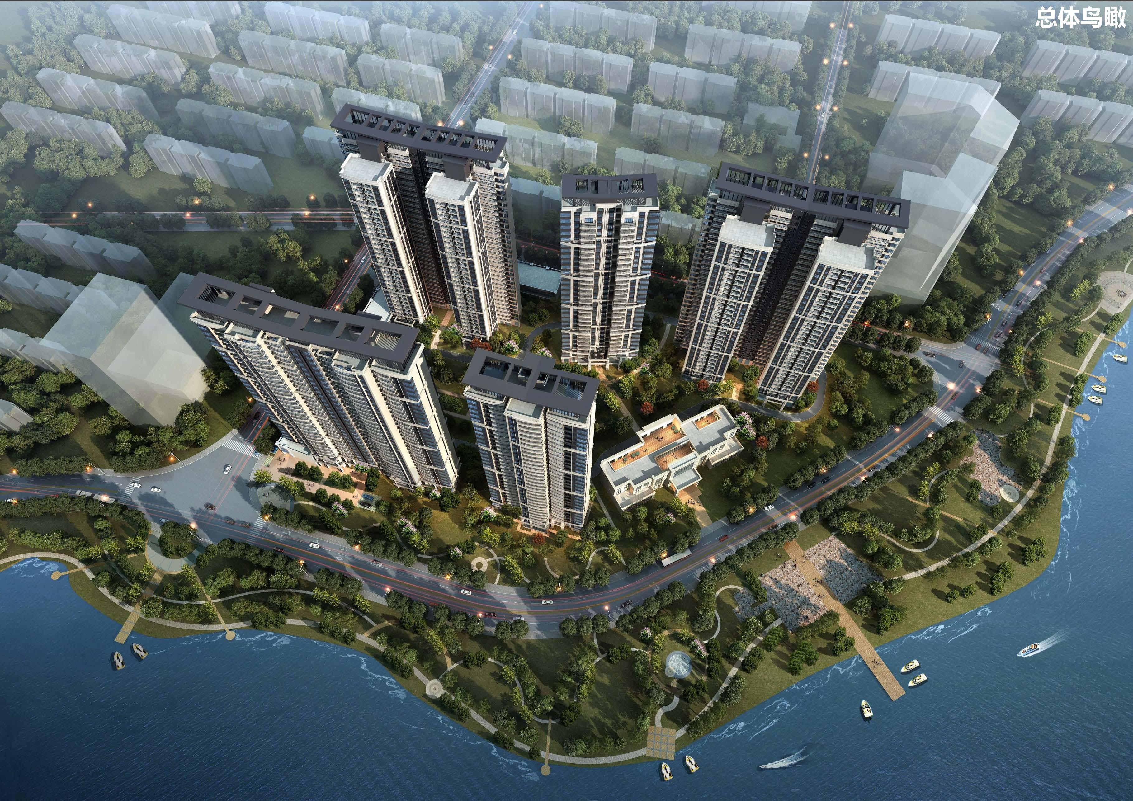 湘林高桥项目鸟瞰图