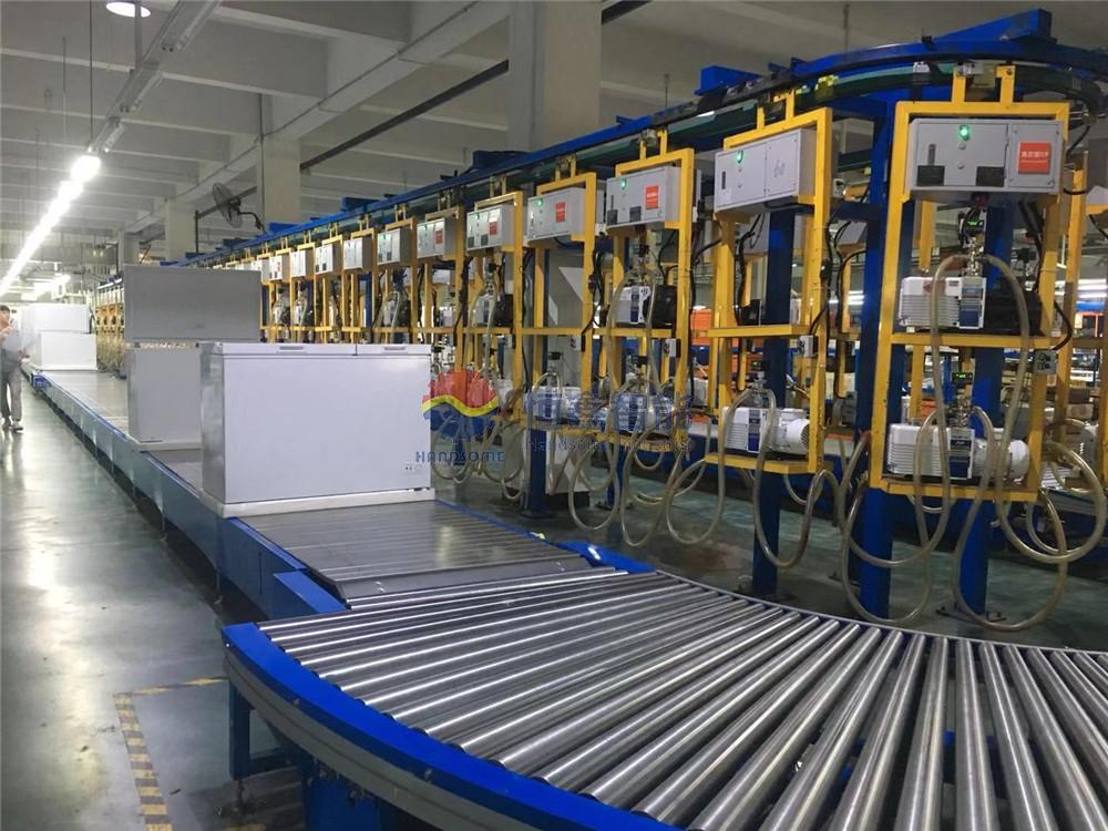 冷柜抽真空生产线