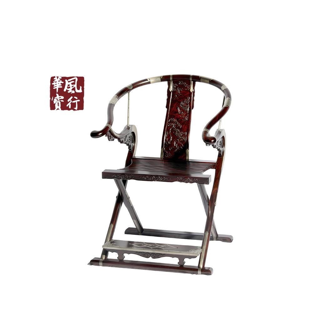B4012 山水纹交折椅