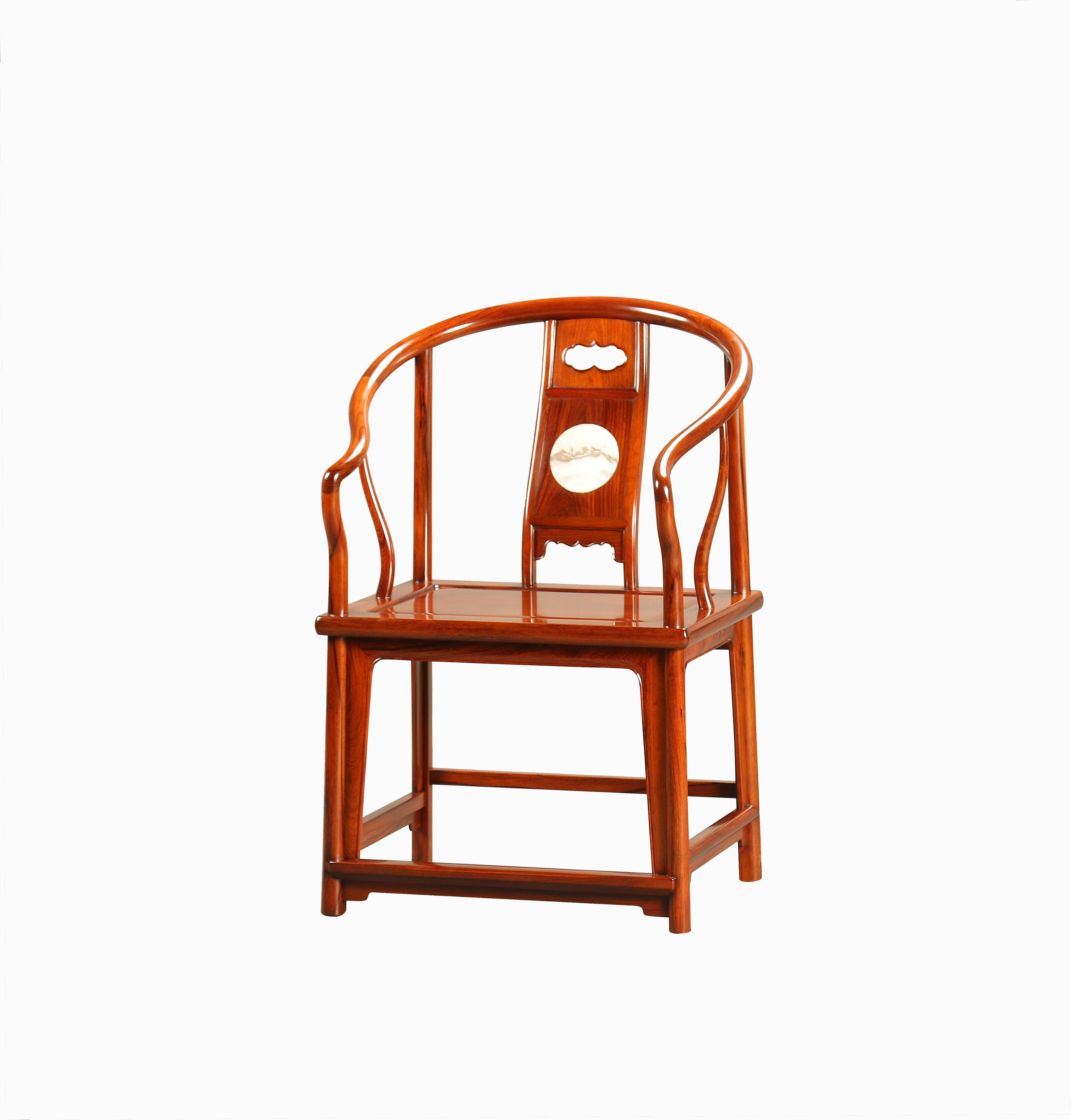 B4037  理石背垂手圈椅