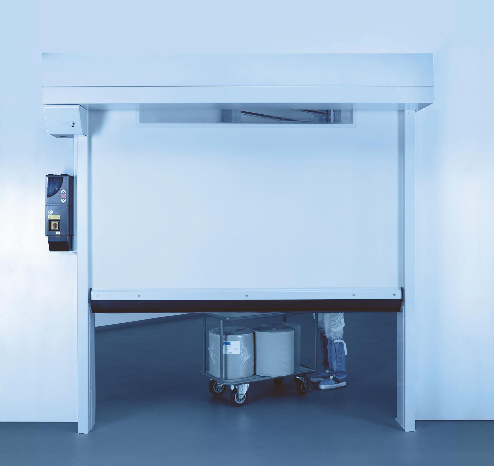 Clean room fast shutter door